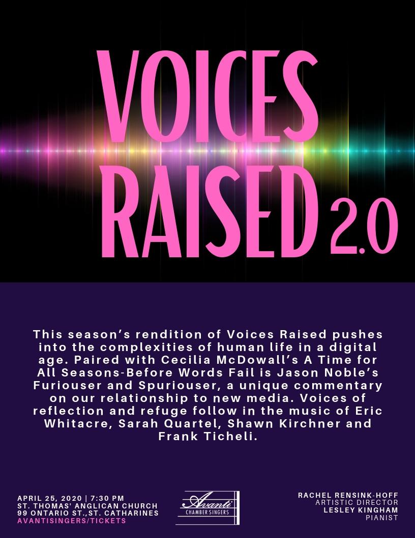 Avanti 2020 - Voices Raised v.17